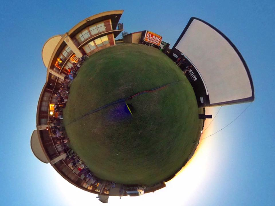 360 shot of prescreen festivities
