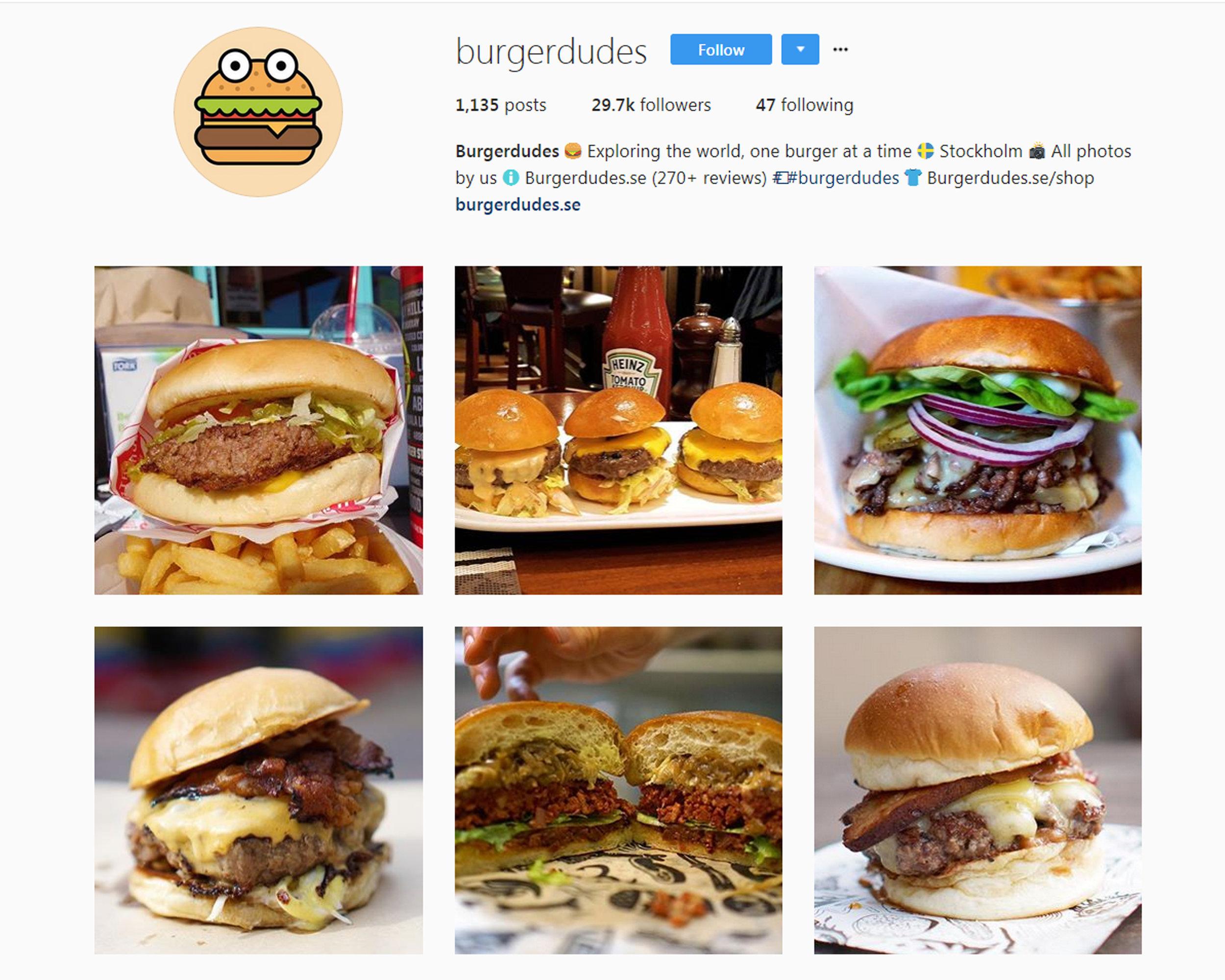 Follow  BURGER DUDES  on Instagram.