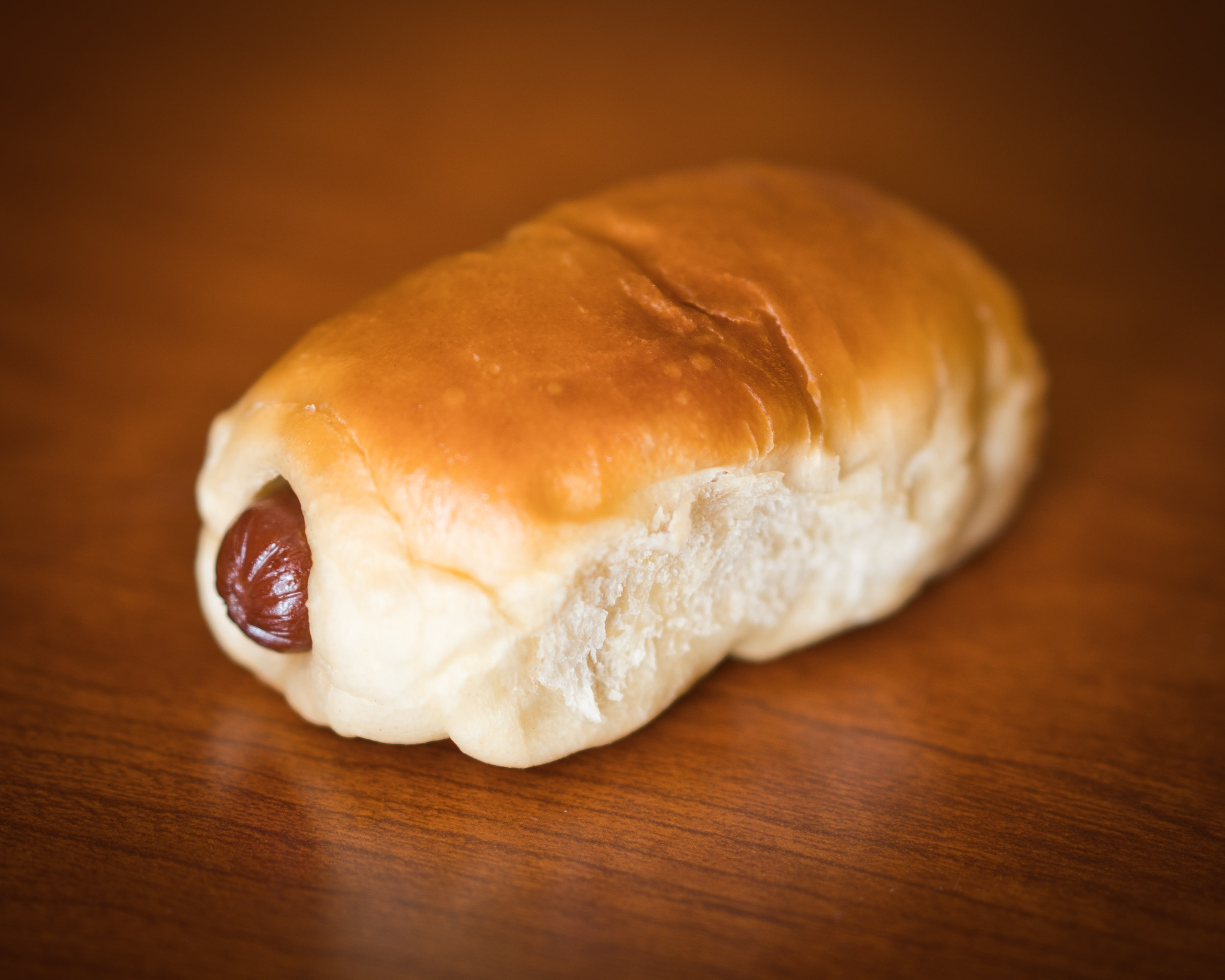 Before we begin, let's take a look at what some might confuse with a kolache. This sausage roll is technically a klobasnek, but we'll forgive you. (We just learned this today). You can find these at any donut shop down the street. They're not bad, but they also aren't the best. We're looking for something more.