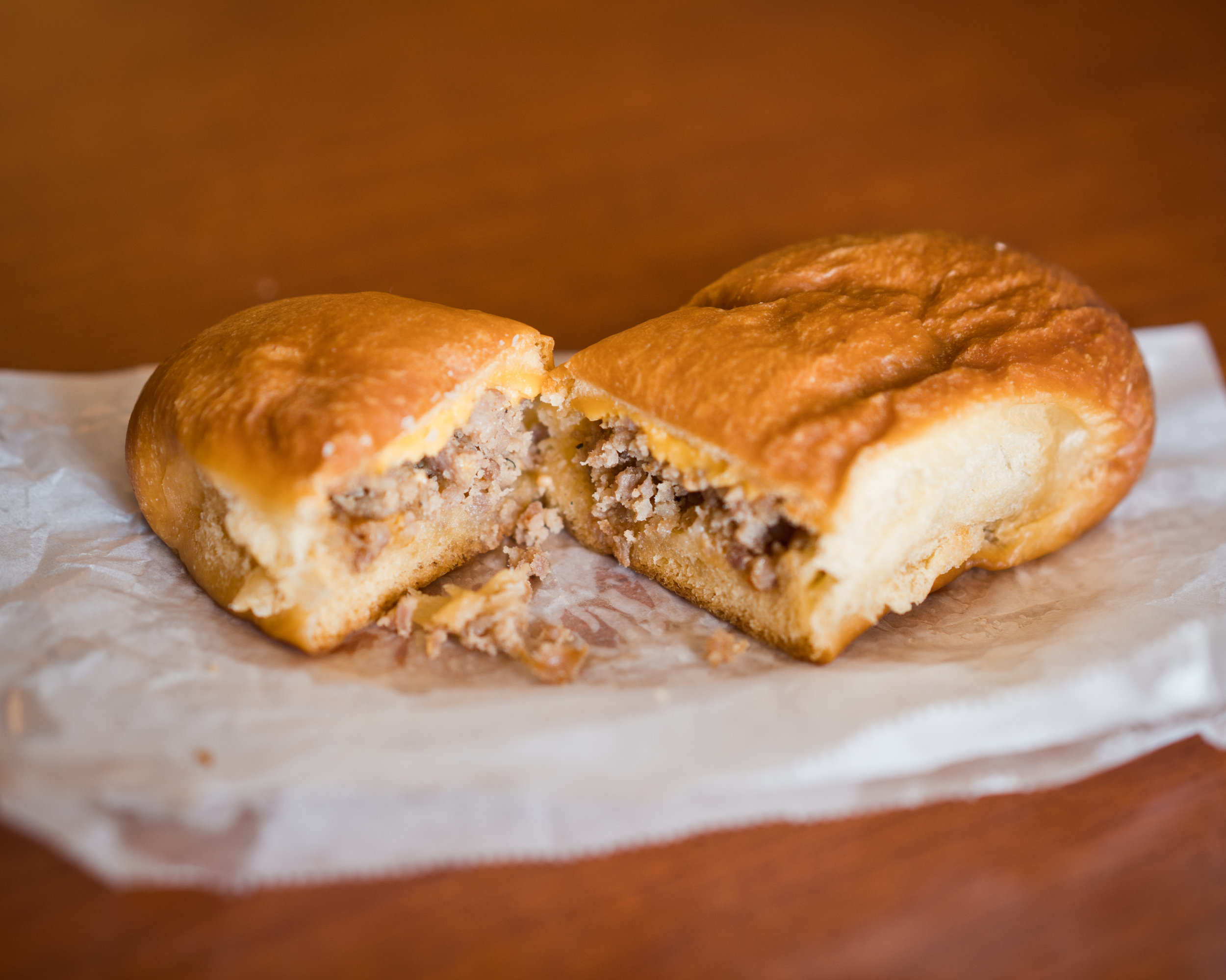 King-Sized portions seems to be the name of the game at Gerik's. This massive klobasnek was filled with perfectly spiced ground sausage and cheese. The only thing that could make this roll better is more meat! It's that good!