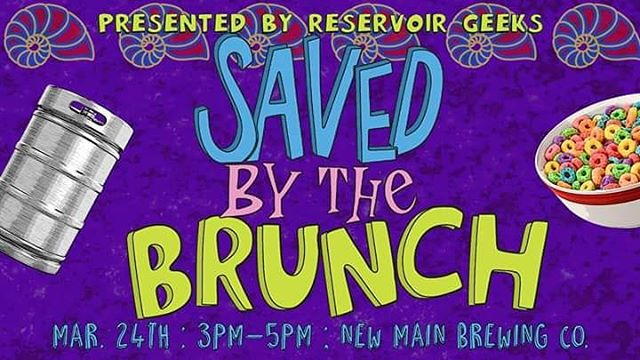 "In less than a week, Saved by the Brunch is happening at @newmainbrewing!  Enjoy four ""very special"" episodes of Saved by the Bell while chowing down of $5 All-You-Can-Eat cereal!  Hope to see y'all there!!!"
