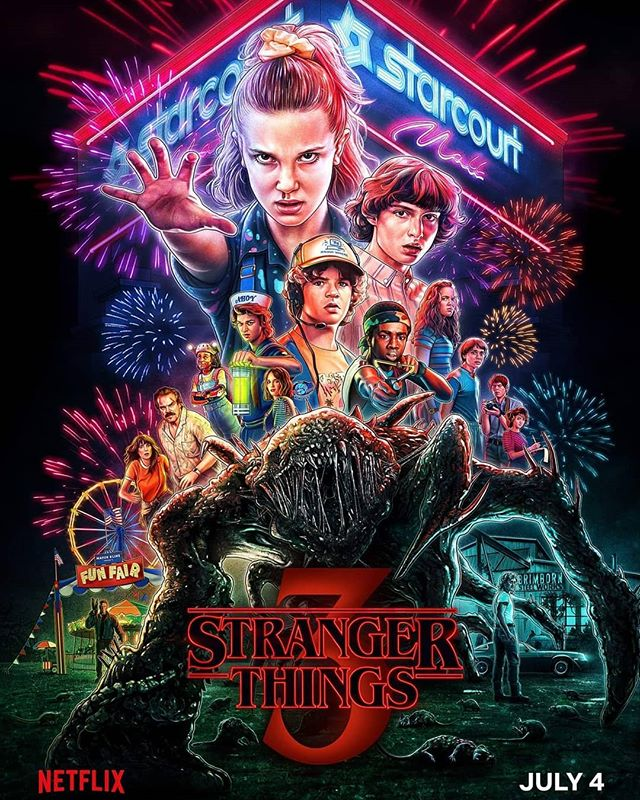 That's one damn fine looking poster! #StrangerThings #Netflix #StrangeyTangs #Poster #July4th #Scrunchie