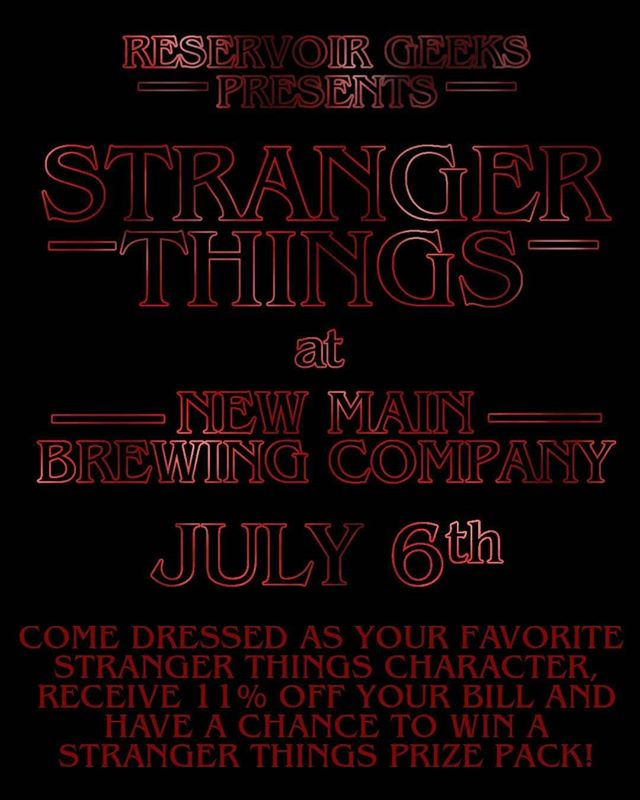 Come to New Main Brewing Co. on July 6th (starting at 7pm) to celebrate Stranger Things 3! Come dressed as your favorite Stranger Things character and receive 11% off your tab AND have a chance to win a Stranger Things prize pack. Costume contest is at 9pm and you must be present to win!  You know you'll have already finished season 3 by then, thus you can have a great beer and discuss it with like-minded fans. Don't be mouth-breather, dress up and head over to New Main!  CAN'T WAIT TO SEE YOU THERE! ... #StrangerThings #Cosplay #Netflix #StrangerThings3 #CostumeContest #Beer #Brewery #Texas #DFW #Pantego #CoffeeAndContemplation