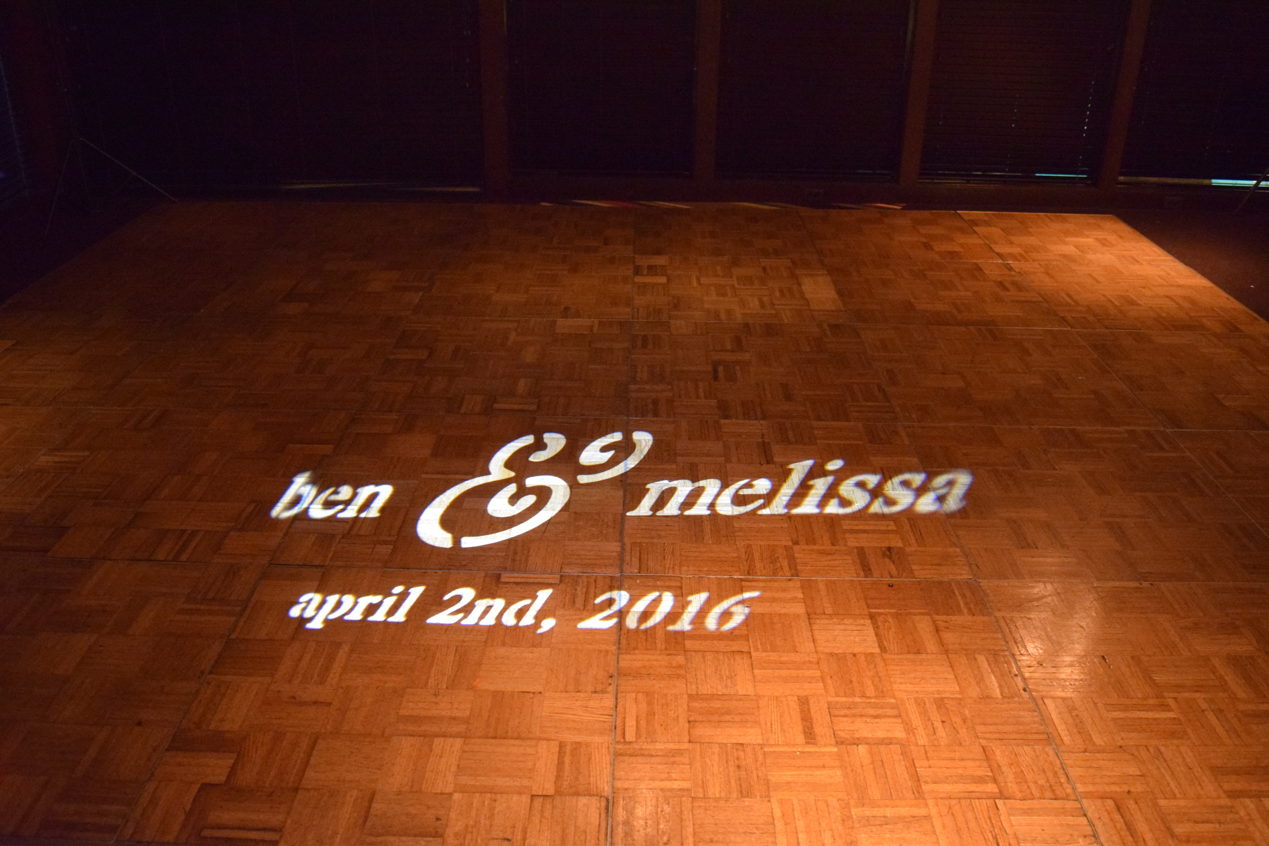 The GOBO creates a striking visual focal point for guests entering your event.