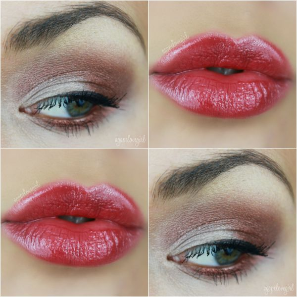 Smokey eyes and red lips from Maria AgapeLove