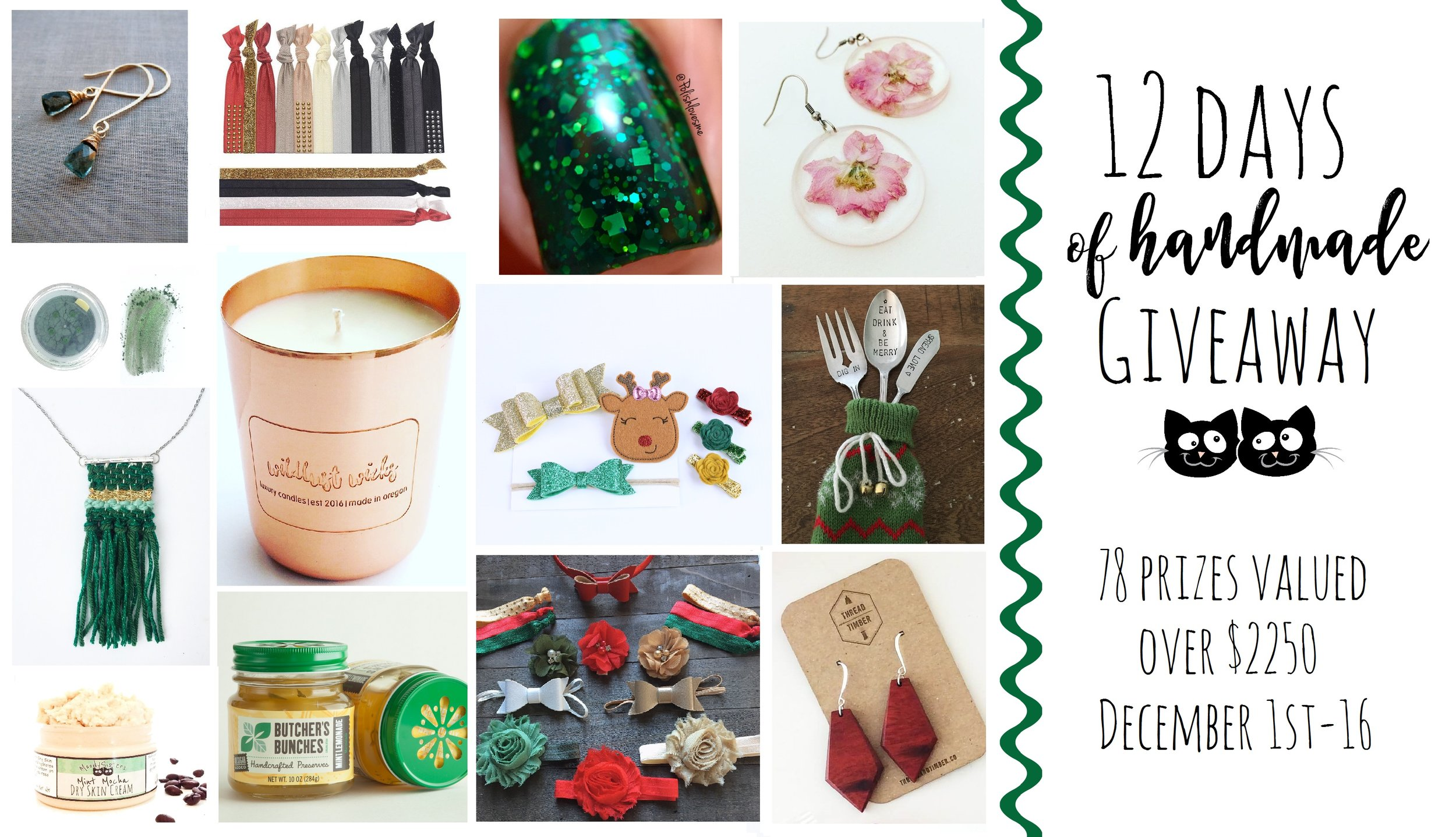 Moody Sisters 12 days of Handmade Giveaway