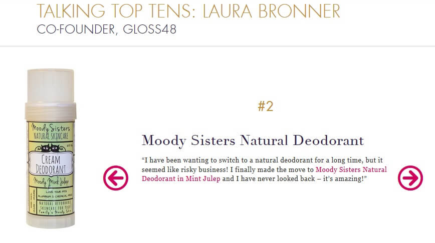 Laura Bronner features Moody Sisters