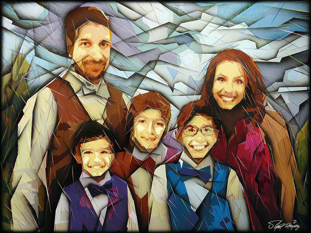 """""""Dave"""" - Family portrait (36""""X48"""")."""