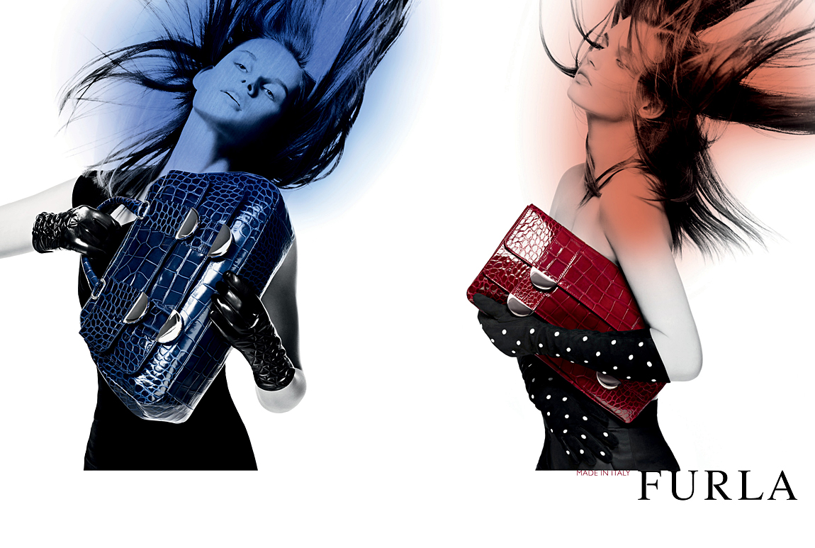 Furla advertising campaign and catalogues