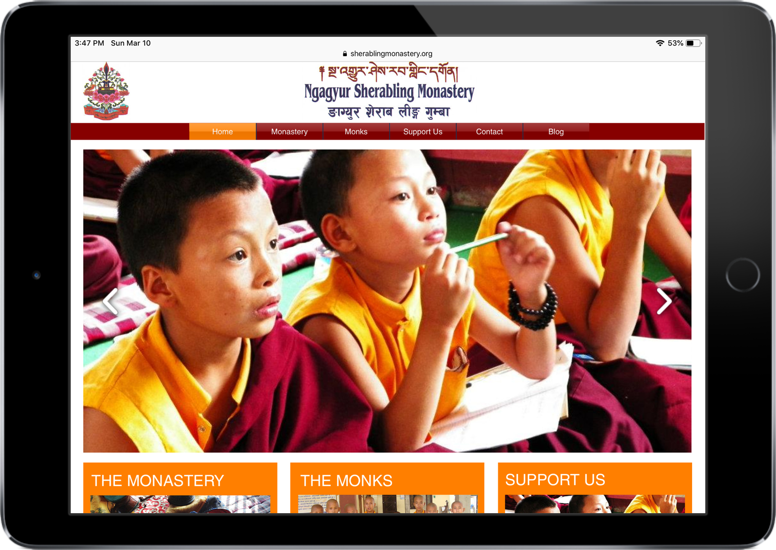 Sherabling Buddhist Monastery in Nepal website