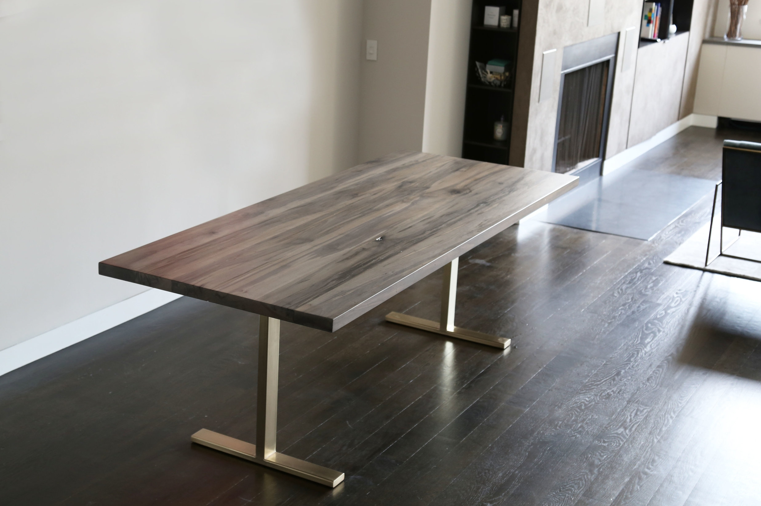 Keaton Fumed Maple Dining Table
