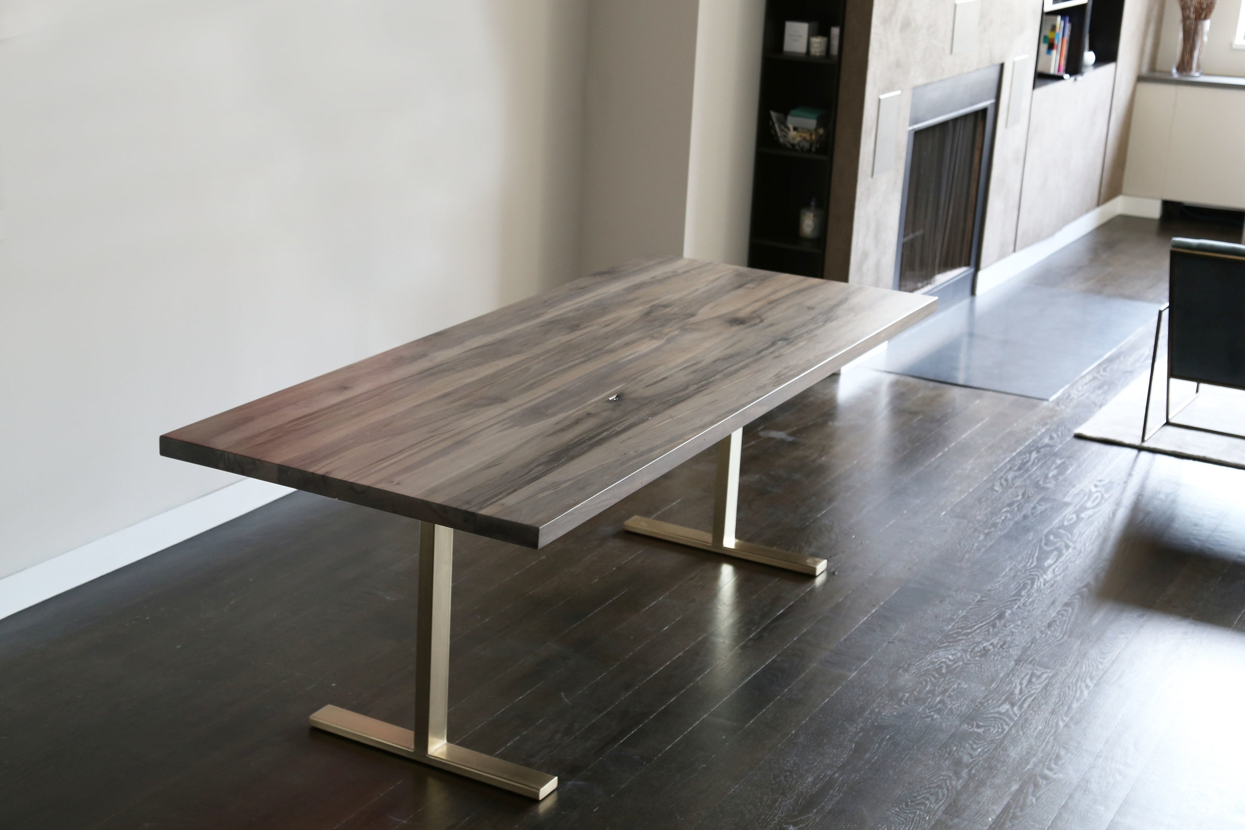 Oxidized Maple Dining Table