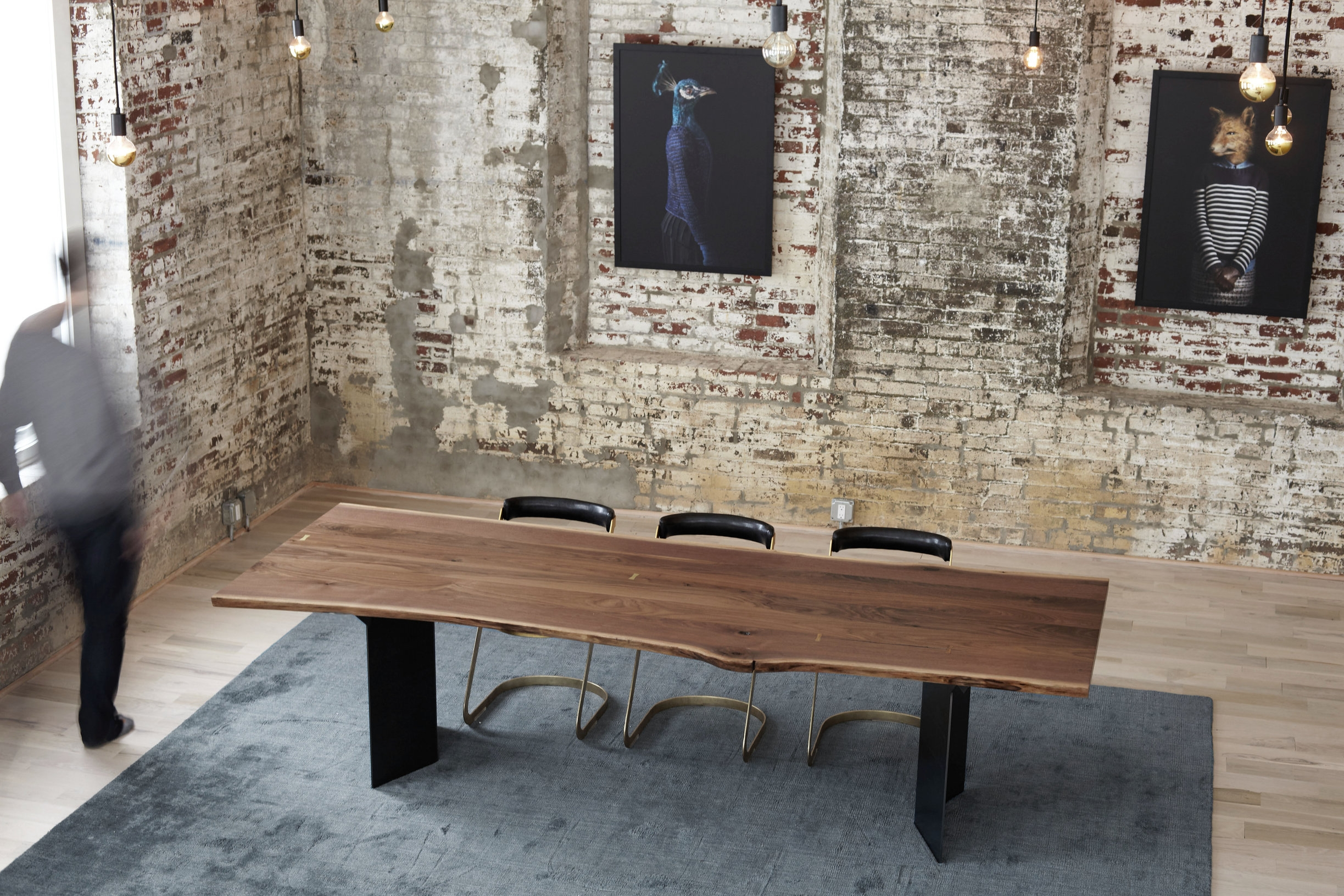 Beacon Live Edge Walnut Dining Table