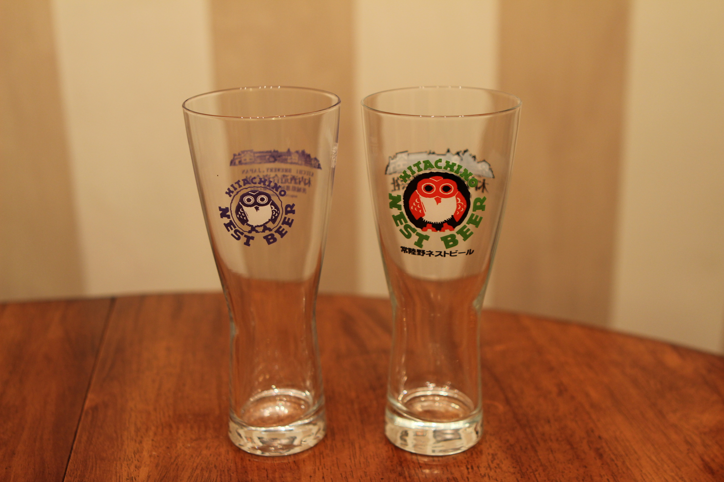Old and new design on the glasses