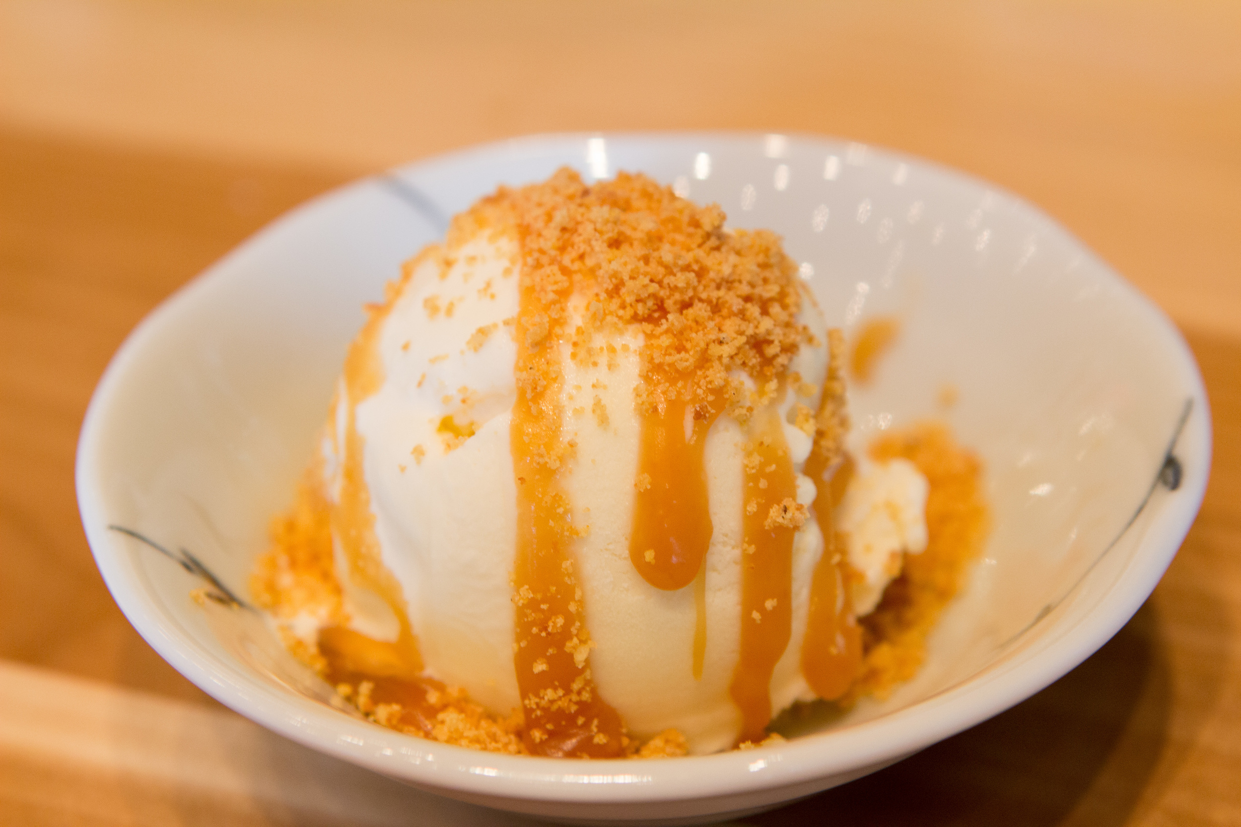 Kettle Corn Ice Cream with Miso Caramel