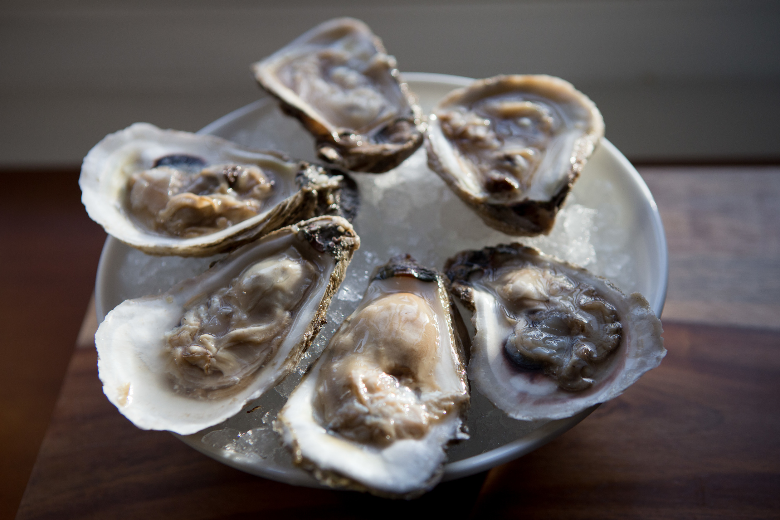 Lynnhaven Oysters, big, juicy and holding all the characteristics of the water they were raised in.