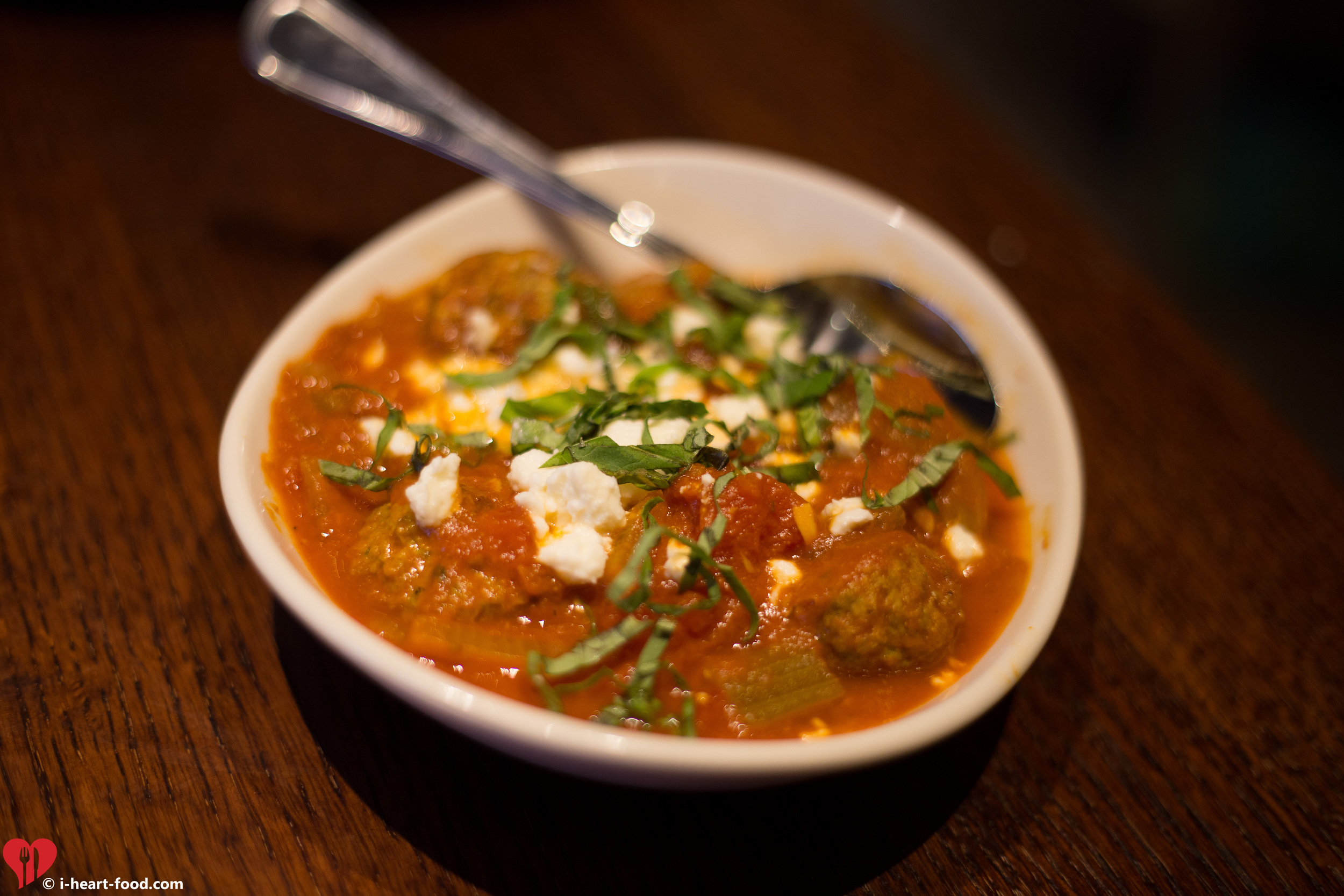 Herbed Lamb Meatballs in Tomato Curry with Feta