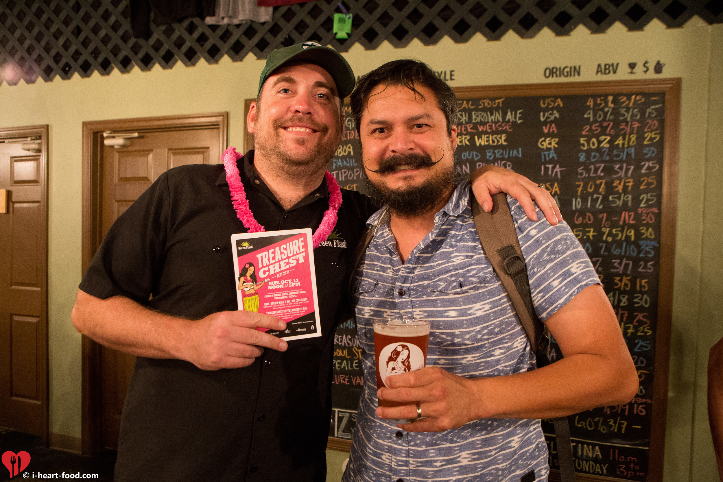 Green Flash's Phil Shannon and me (always with something strapped to my shoulder)