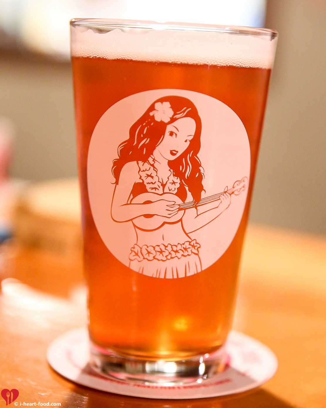 "The new ""Hula Gal"" icon glass! Cute!"