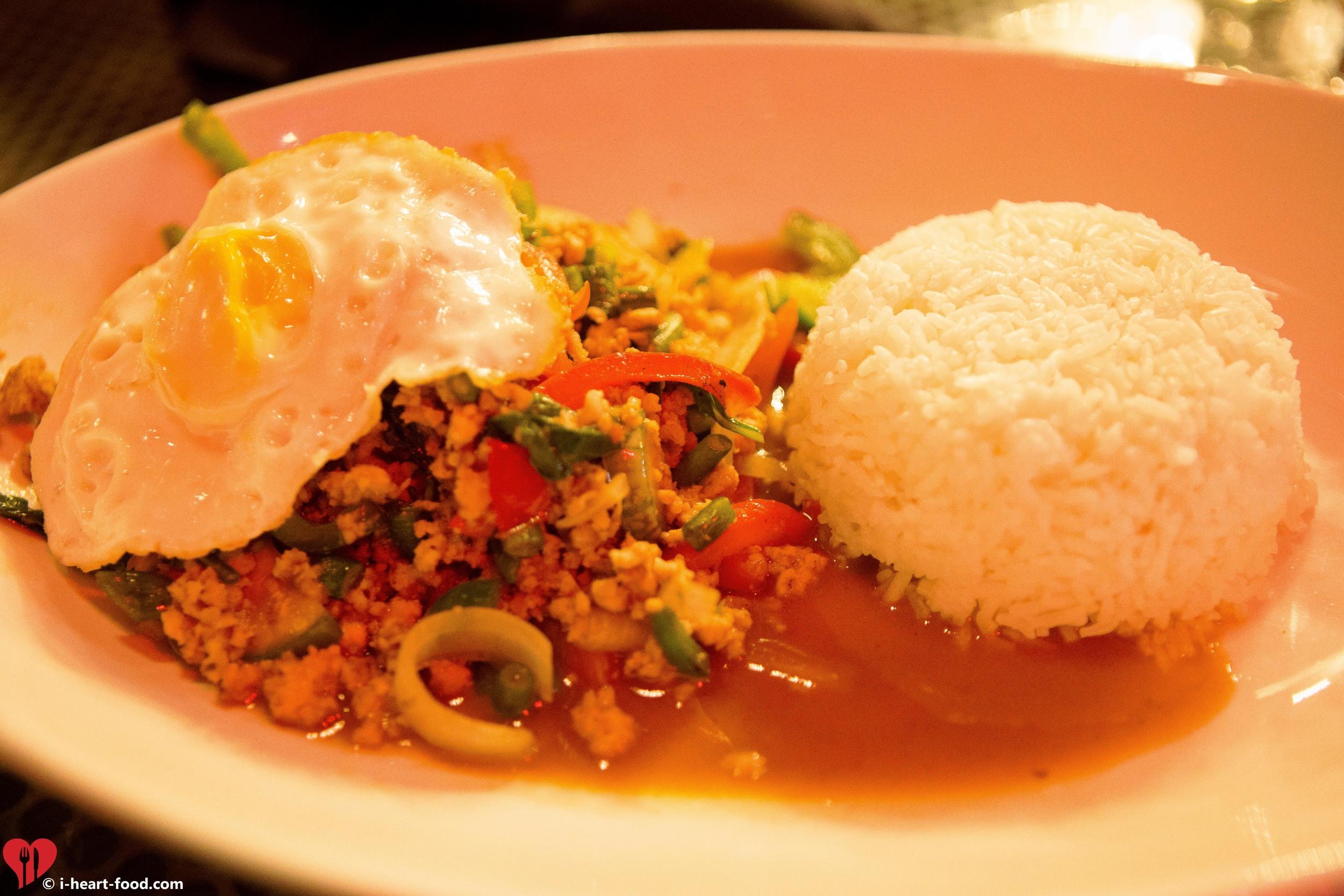 Pad Krapow Moo Sap Kai Dow (Spicy Basil Pork)