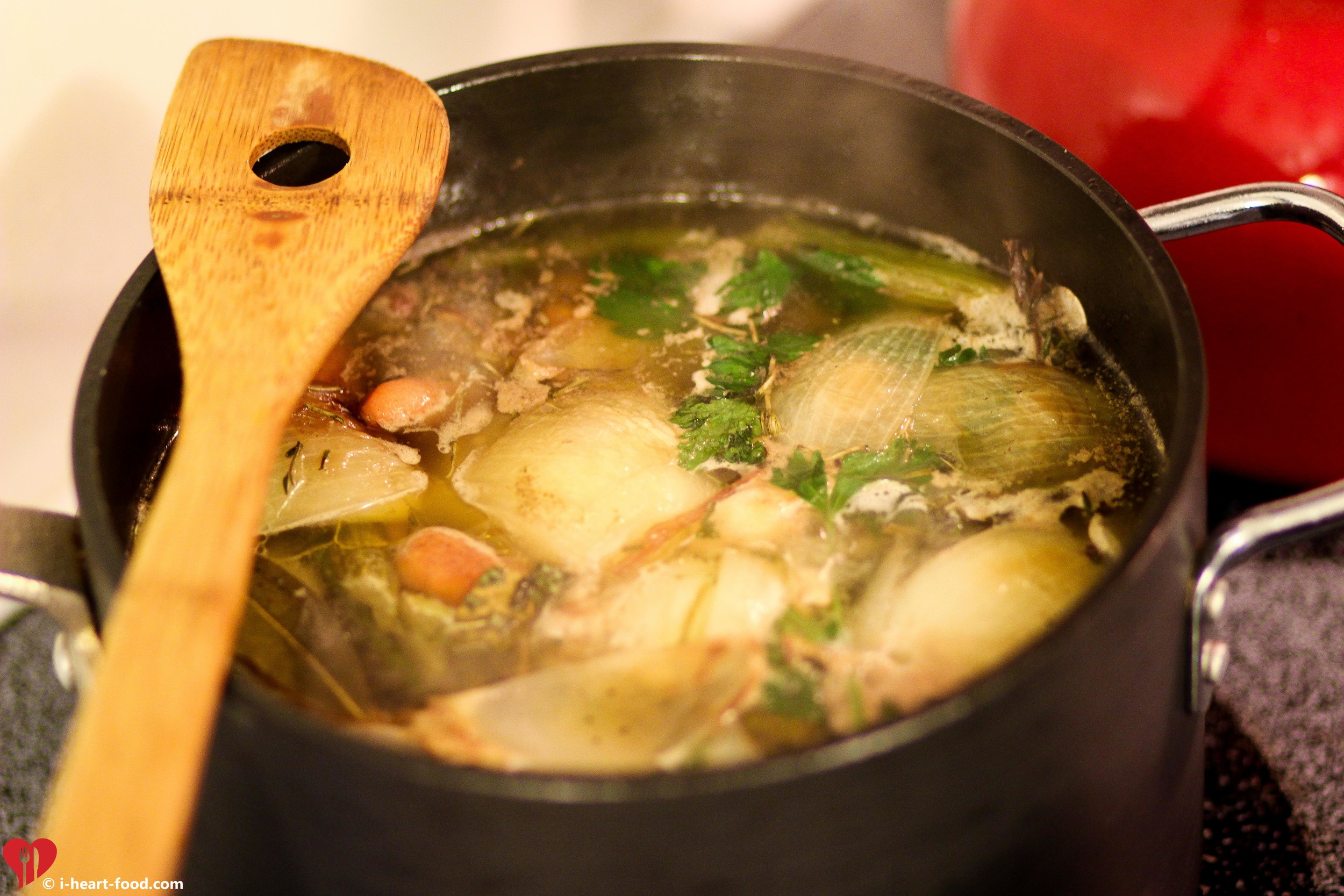 Make a broth with the giblets and turkey neck