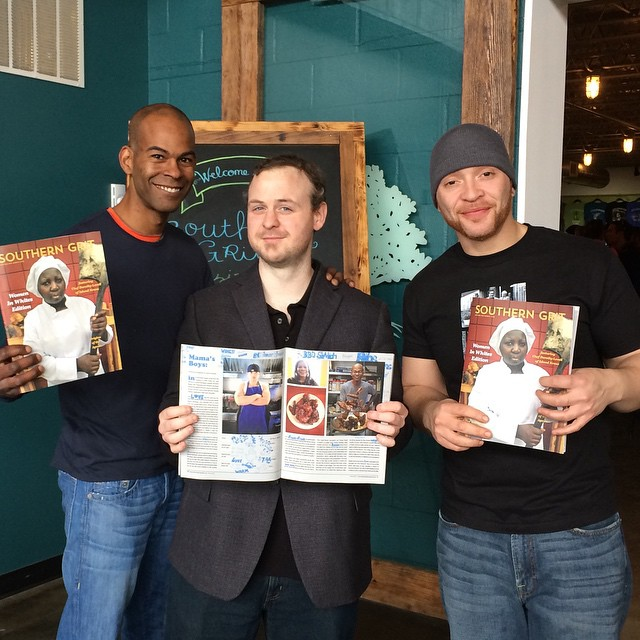 Fitz flanked by Ashanti and Mo of My Mama's Kitchen, Southern Grit release party