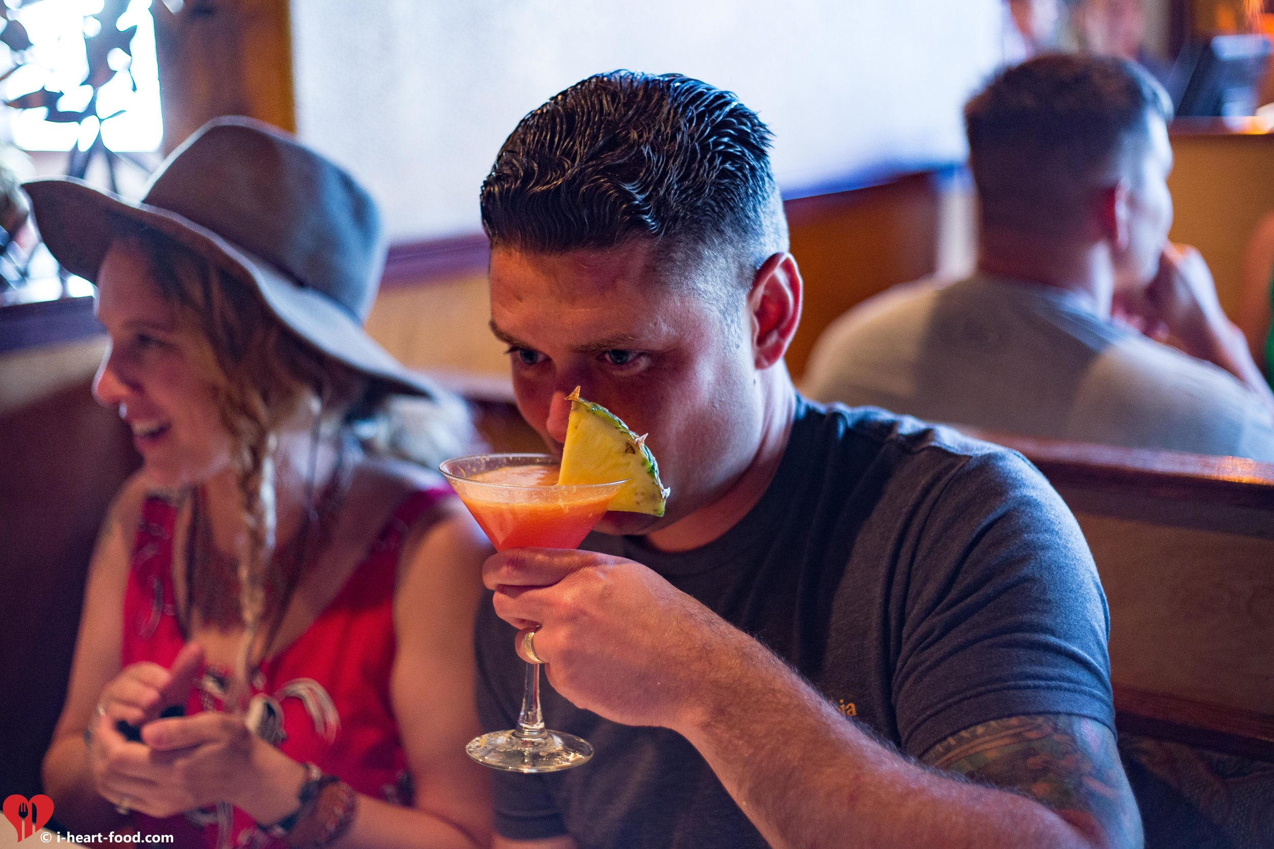 The whiskey man enjoying a fancy drink.