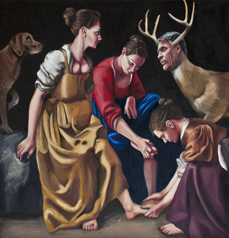 Myself as Diana and her companions, with Rick Perry as Actaeon