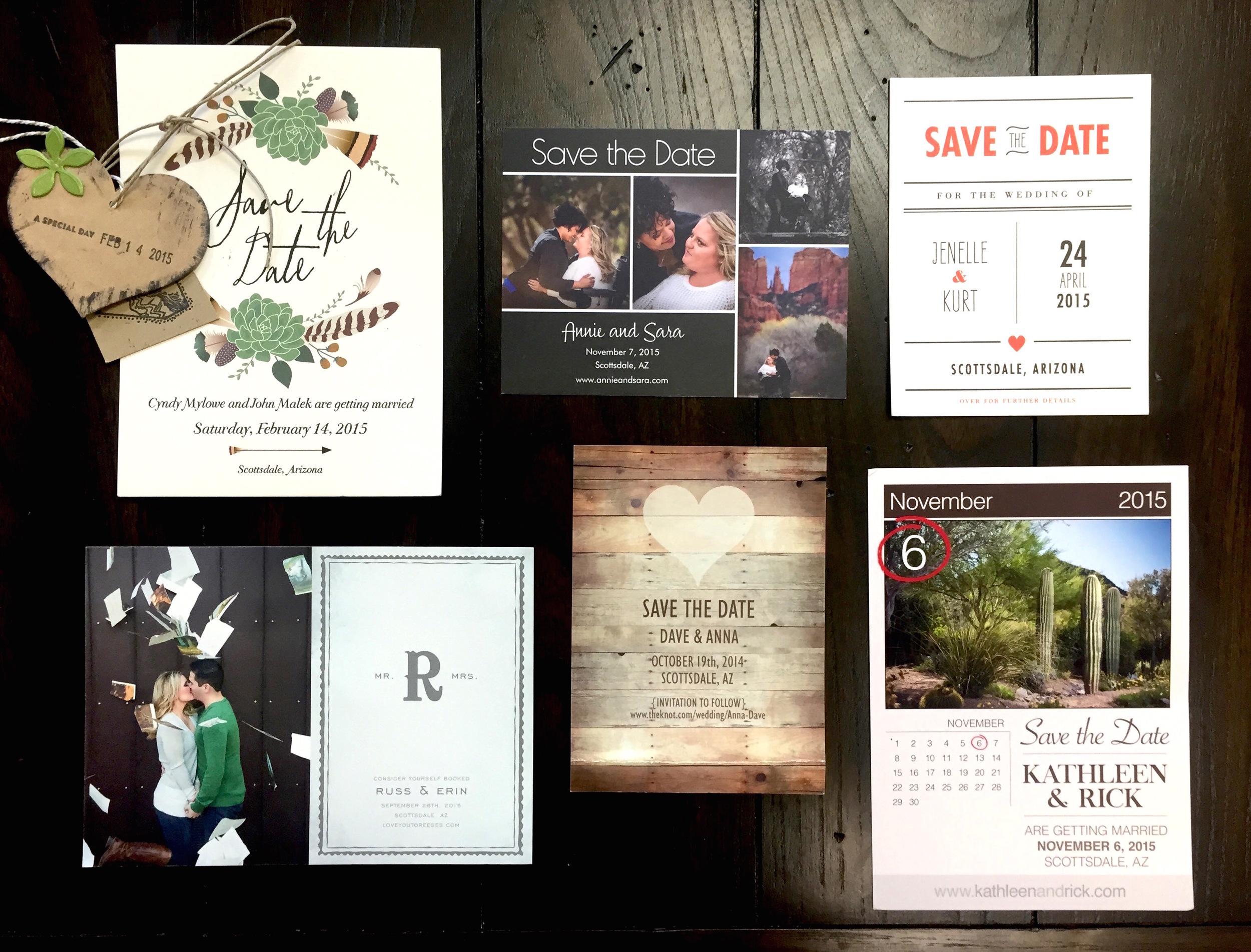 Scottsdale and Phoenix Wedding Save-the-Dates