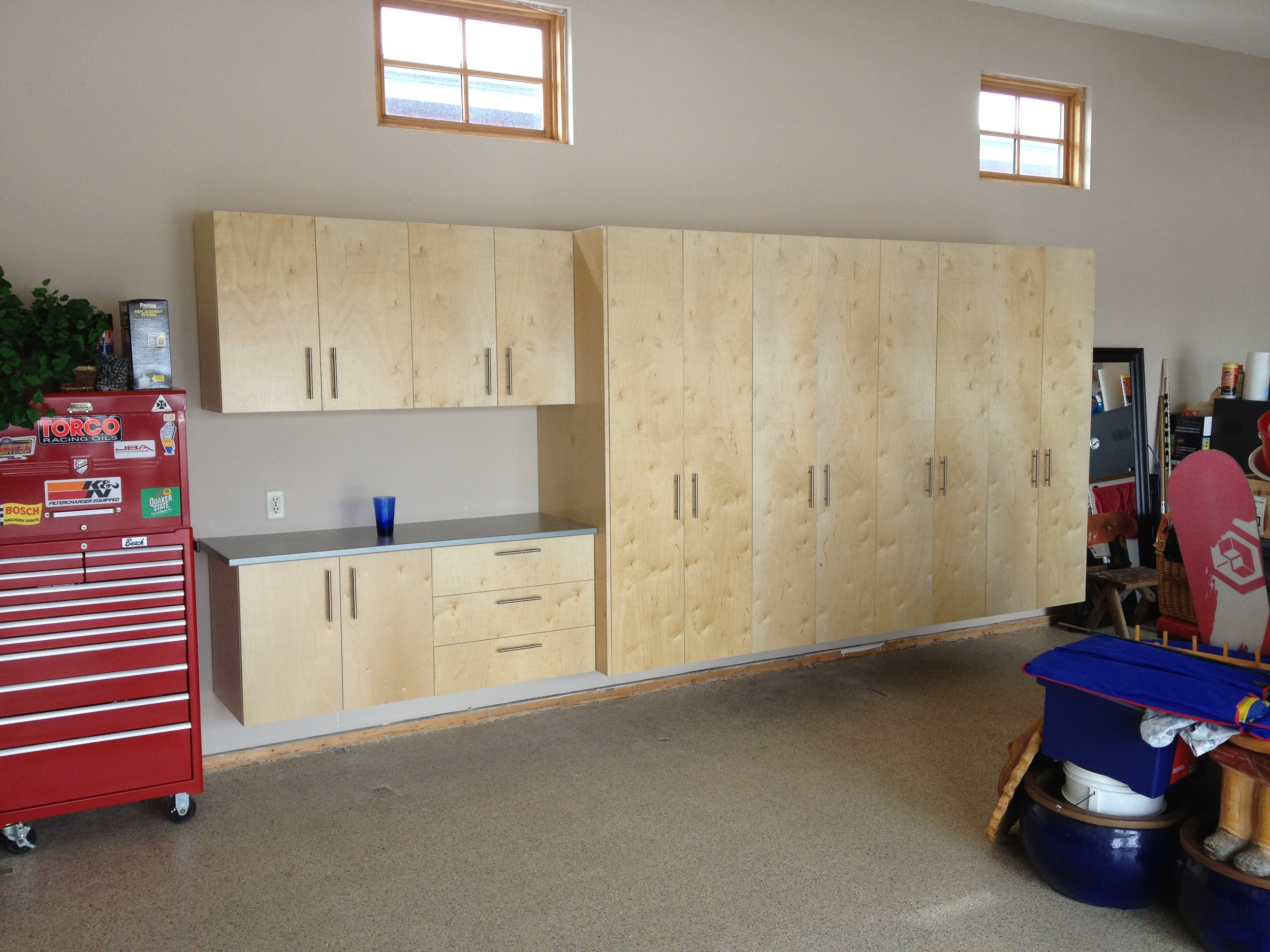 14 feet of cabinets