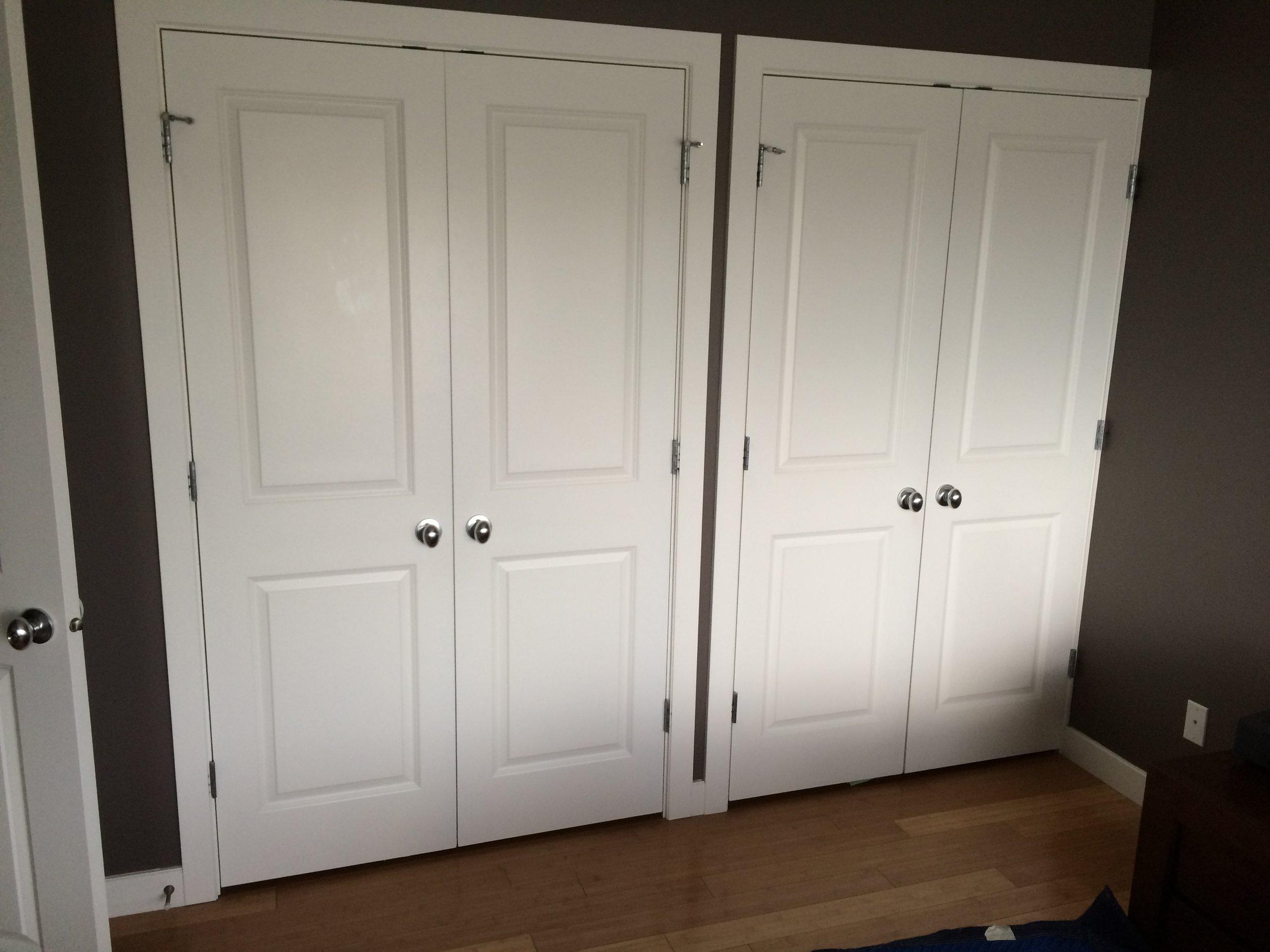 Before: Old Closet Doors