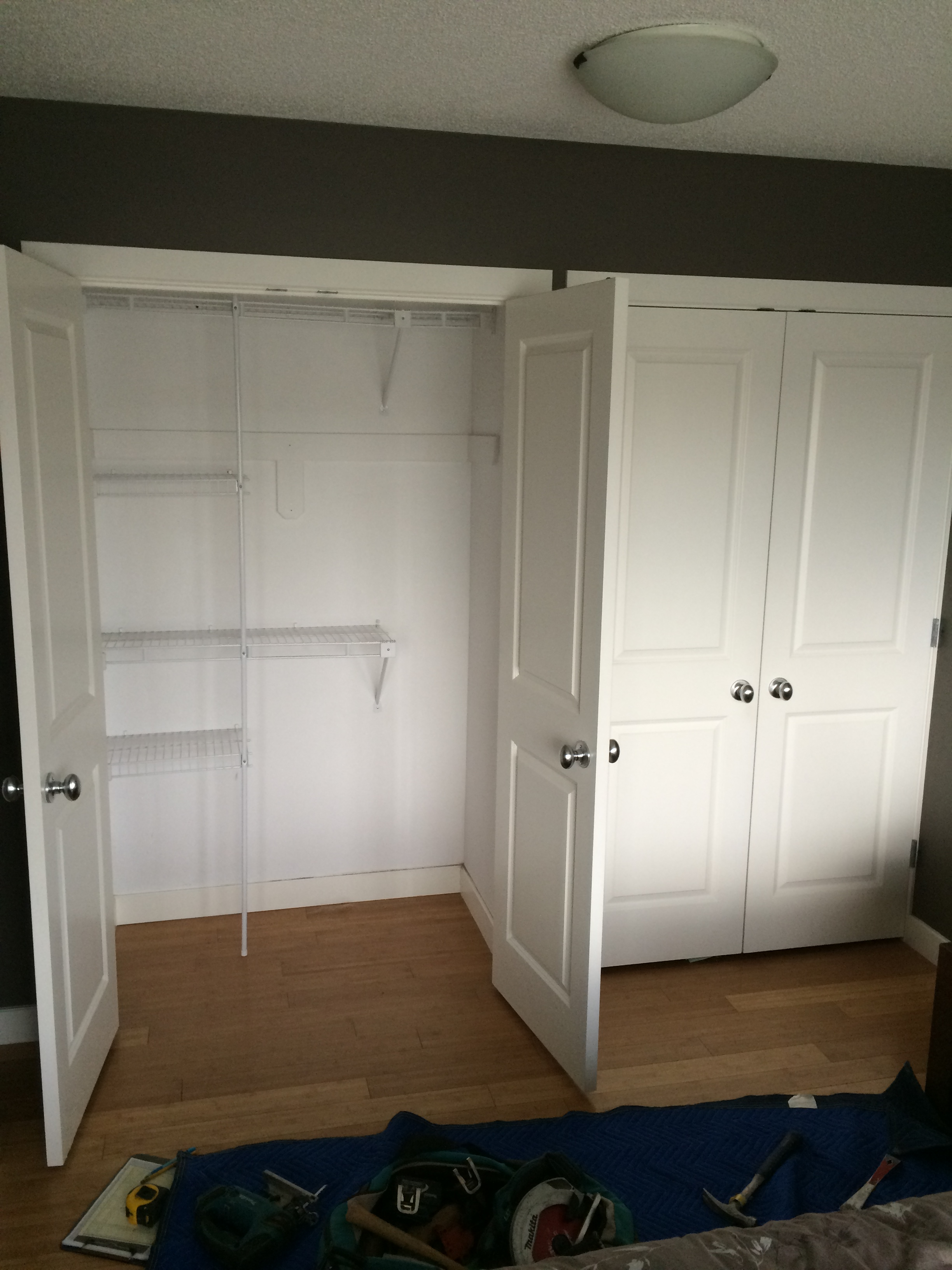 Before: Old Closet Shelving