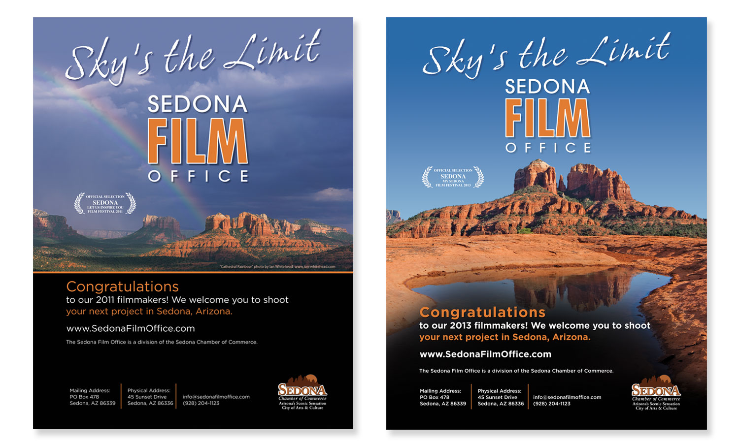 Ad Design for Sedona Film Office