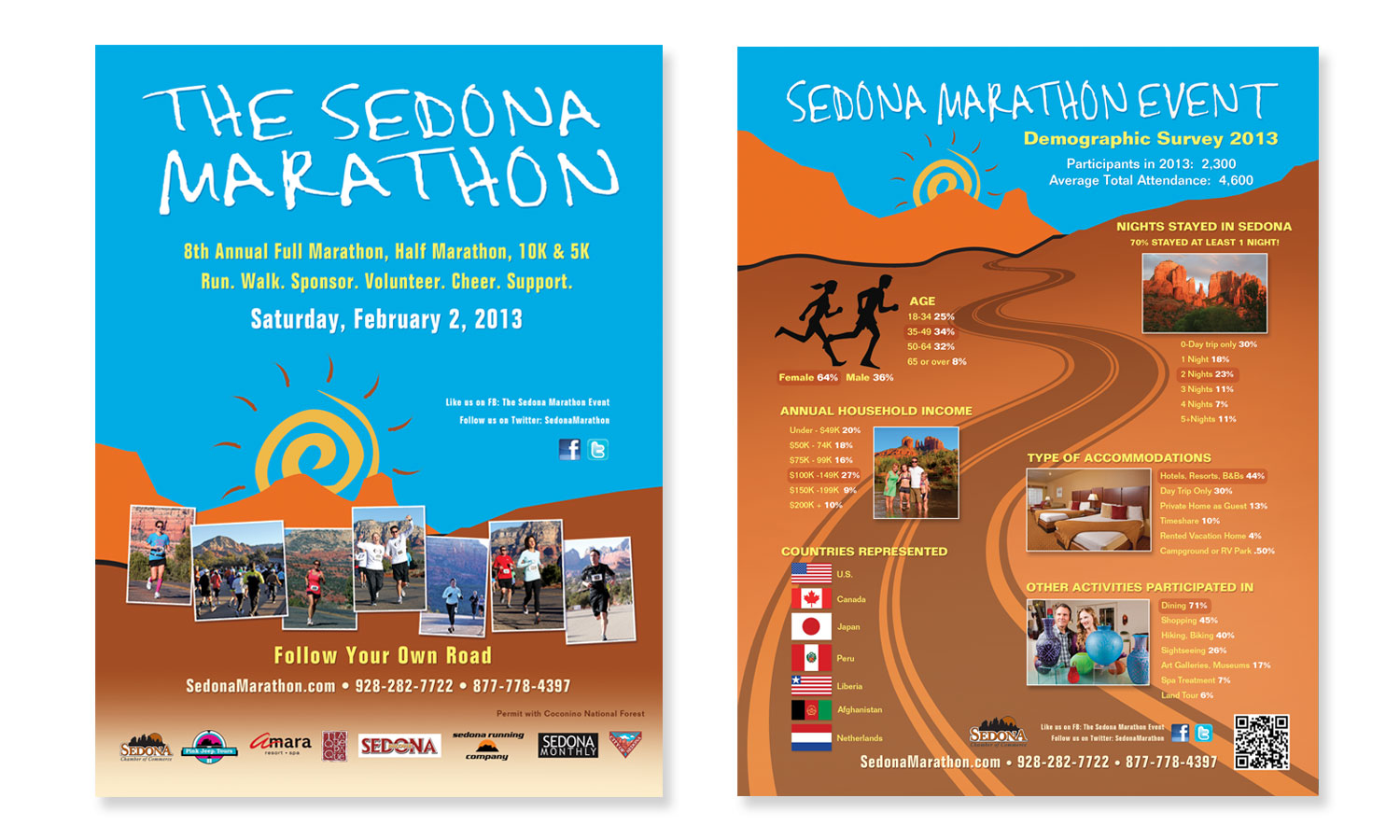 Ad Design for Sedona Marathon
