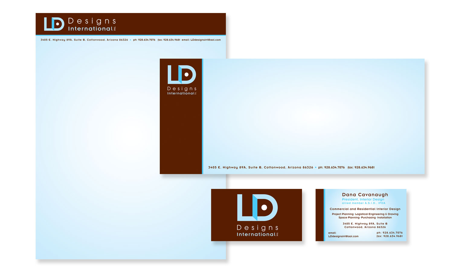 Letter head, business card design