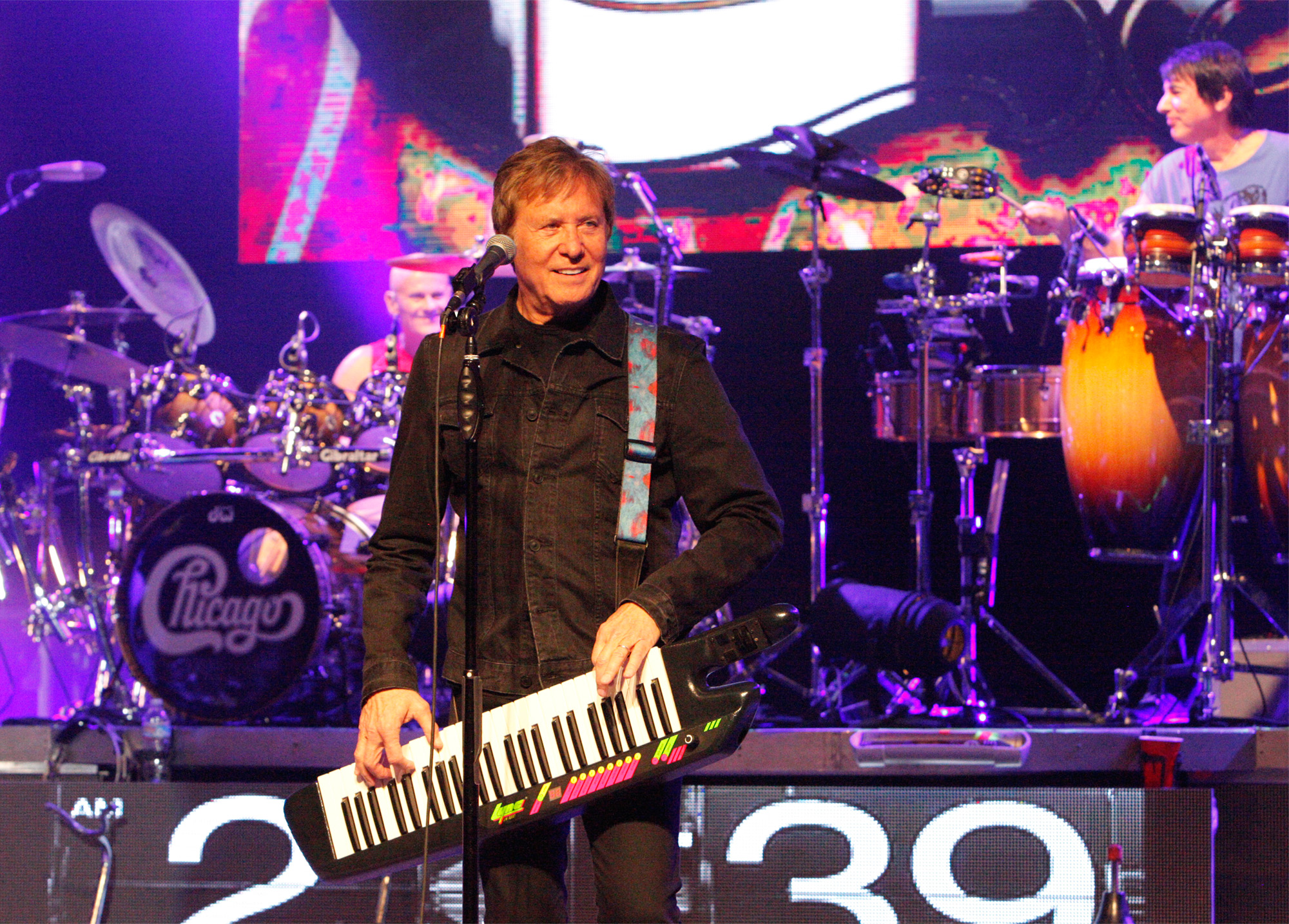 Photo of Robert Lamm from the band Chicago This photo was selected to be published in a book about the band.
