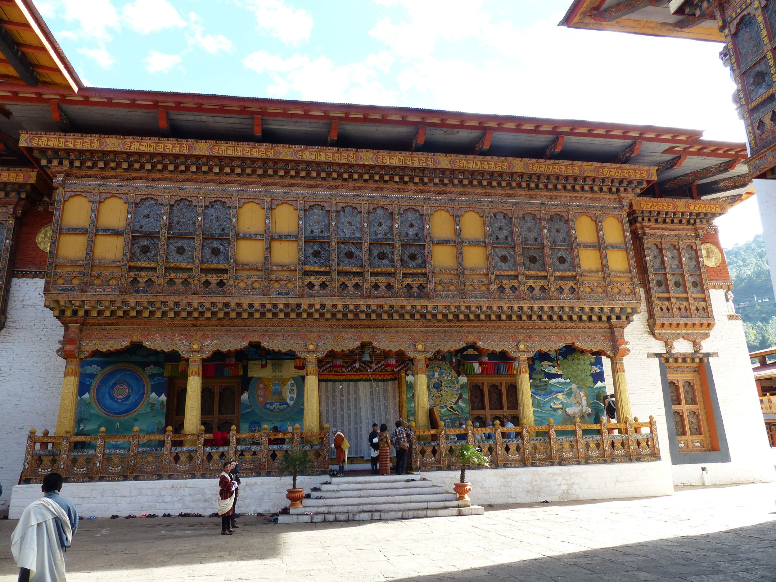 Part of Dzong where they held the Buddhist ceremony (inside, sadly not pics allowed)