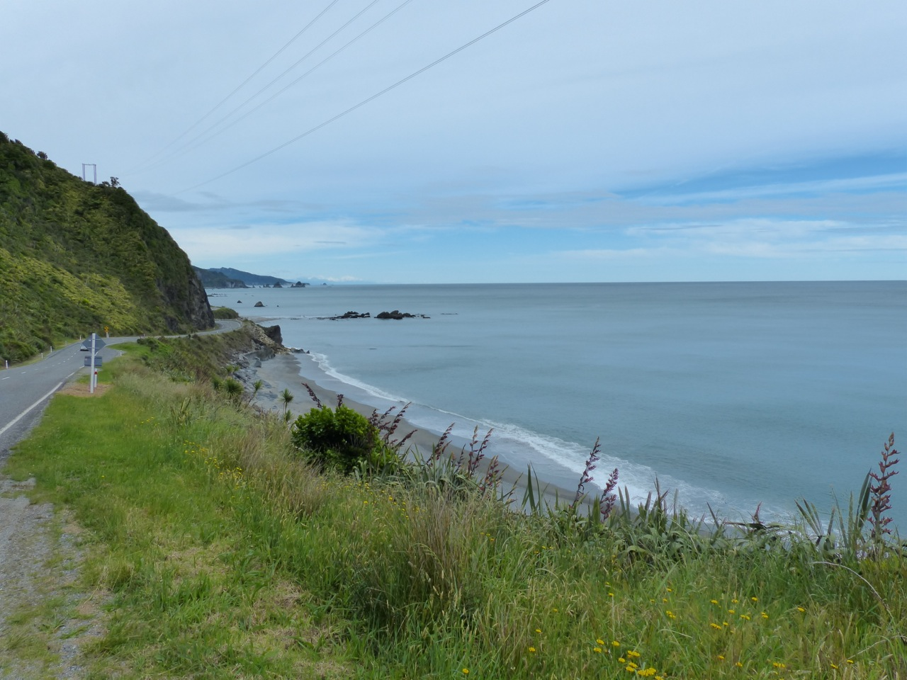 Western New Zealand coast line:  reason enough to climb a little hill...
