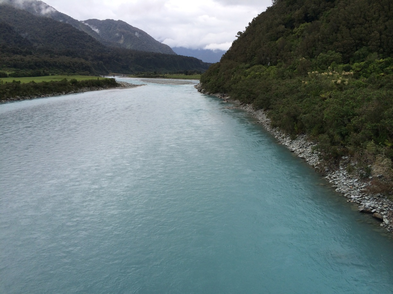 Glacier-fed river. Not really sure I do it justice with this photo but it really was something to see.