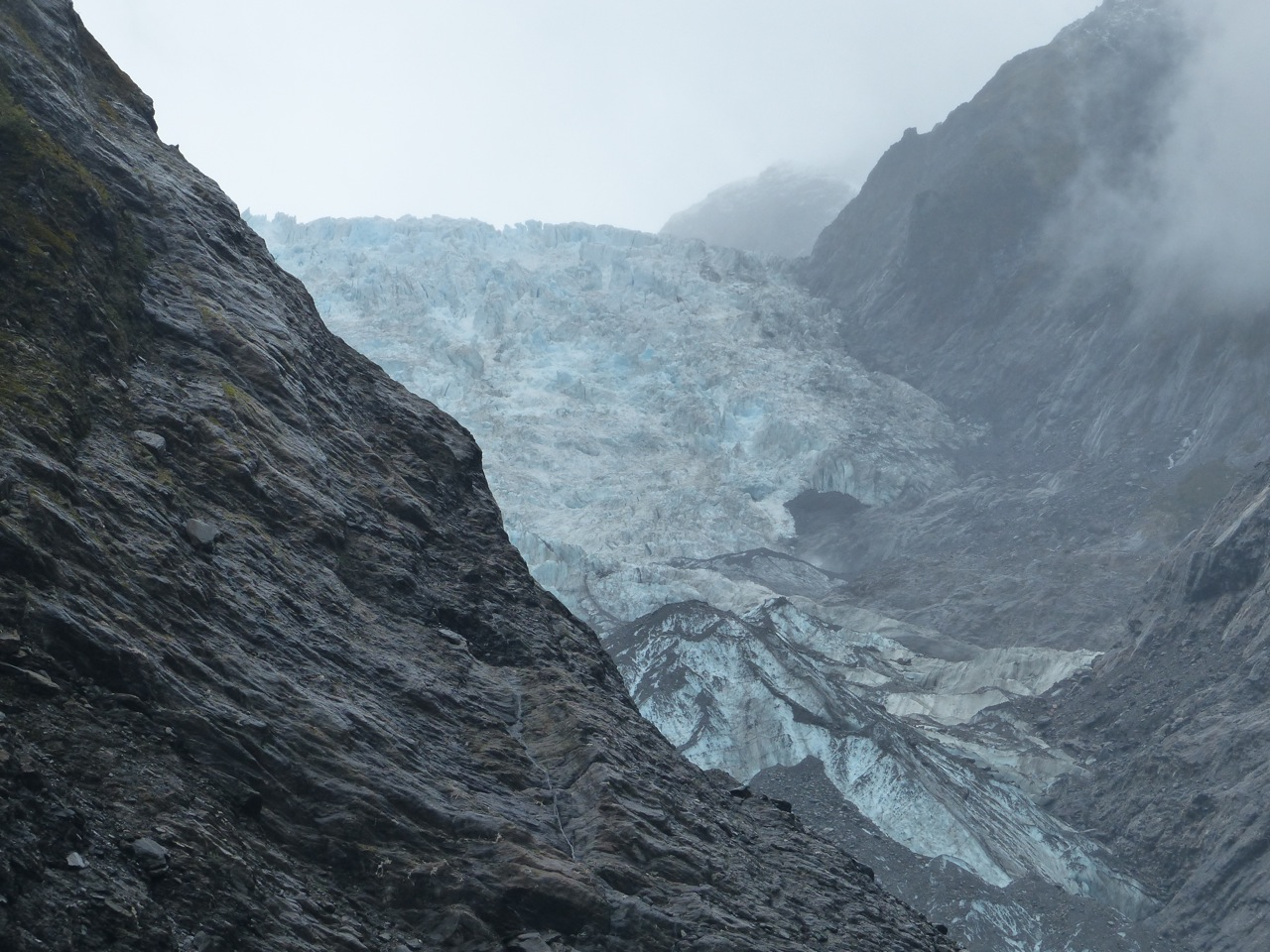 Franz Josef glacier peaking through...