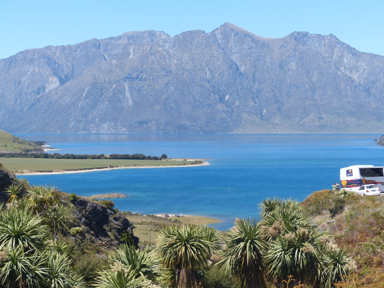 Lake Hawea, first big view