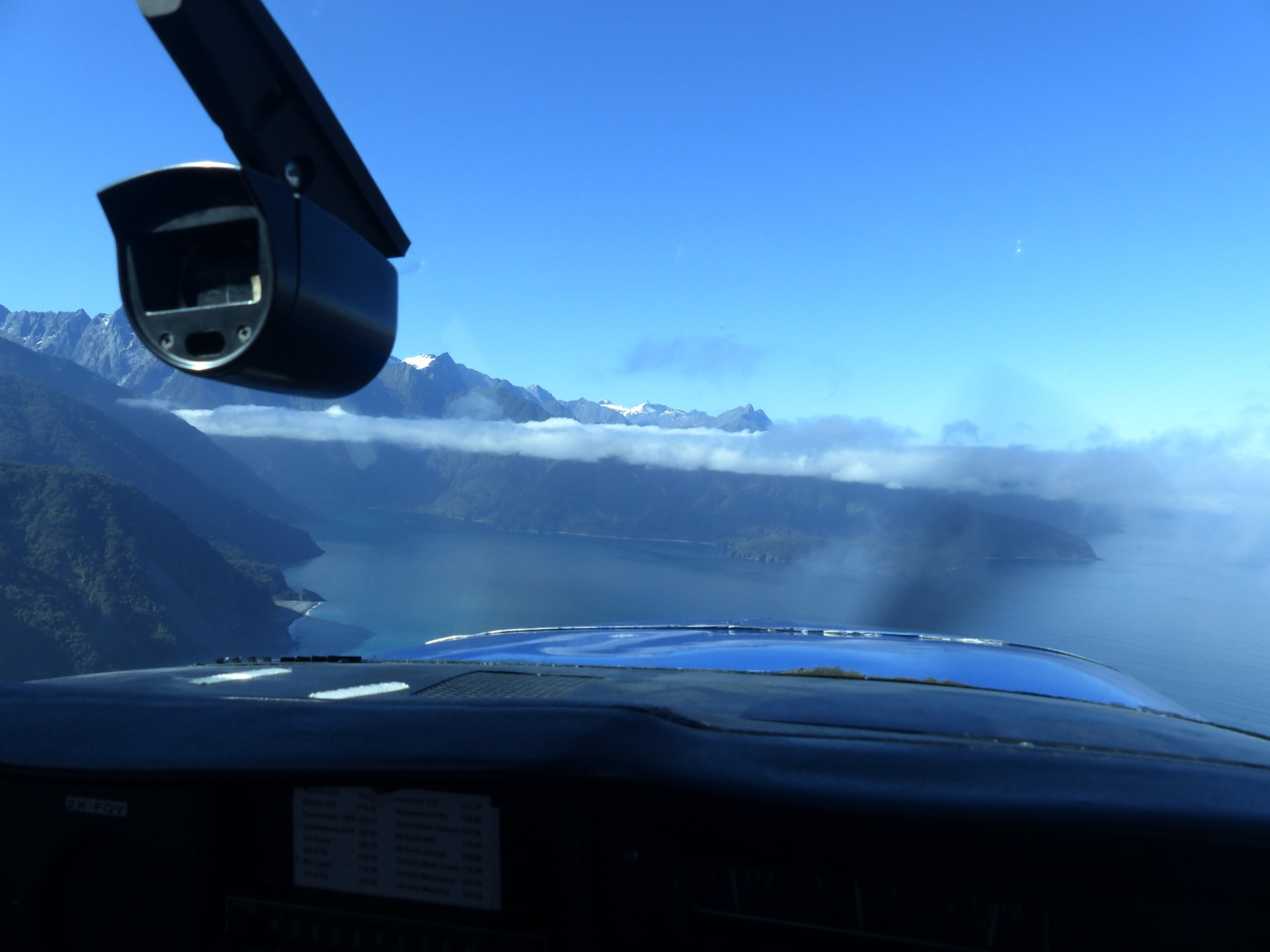 Beginning our approach into the fjord
