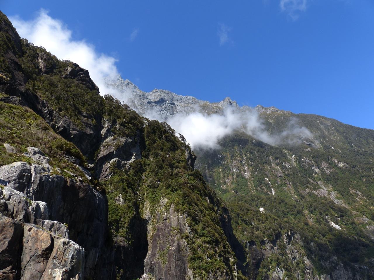 Imposing cliffs...