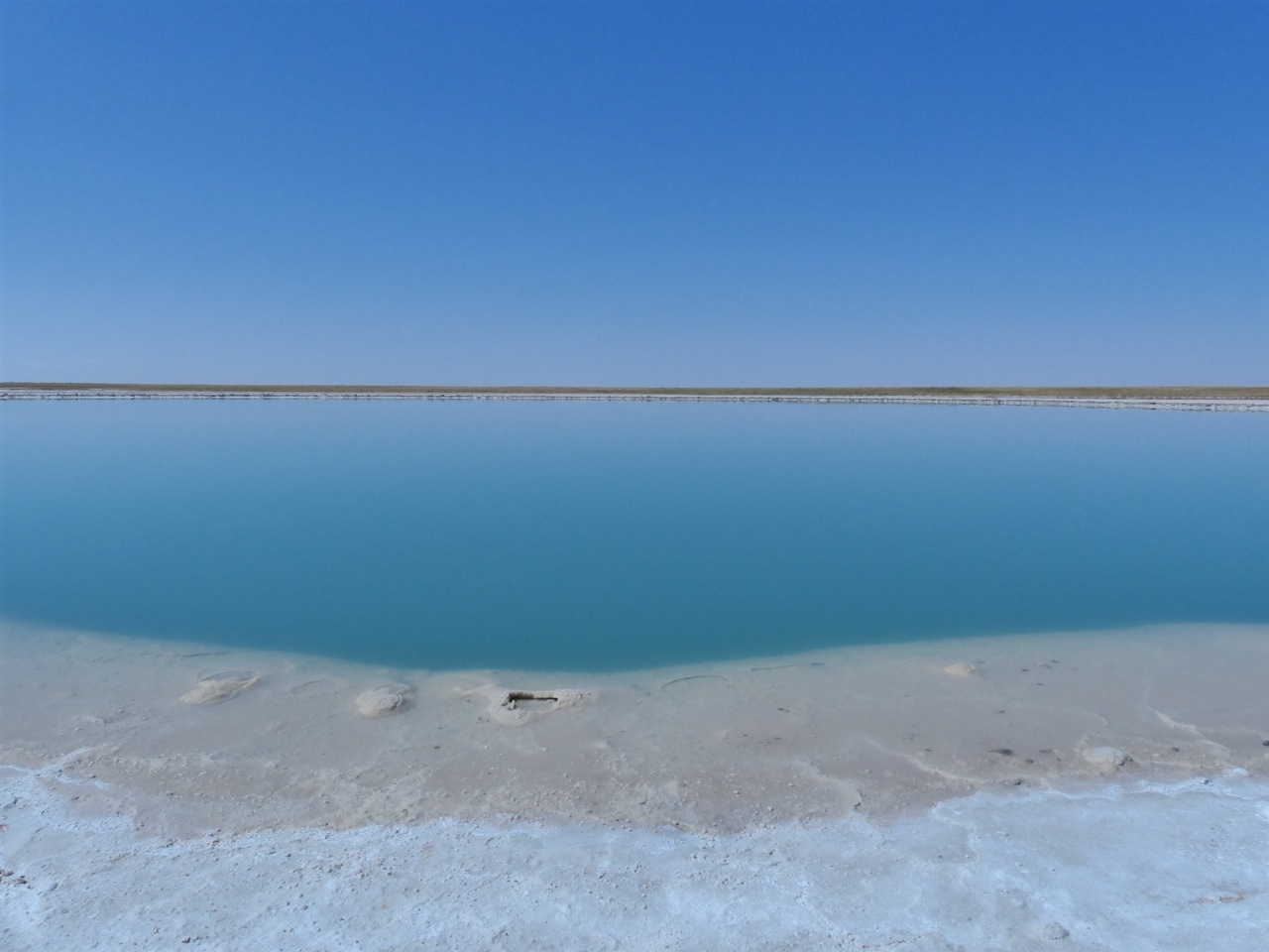 One of the two salt lakes.  We swam in the second...