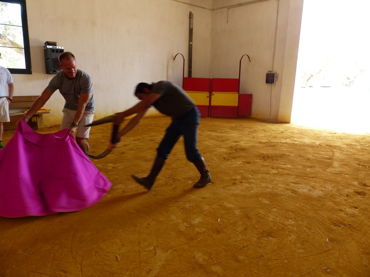 First bullfighting lesson...  I lived.