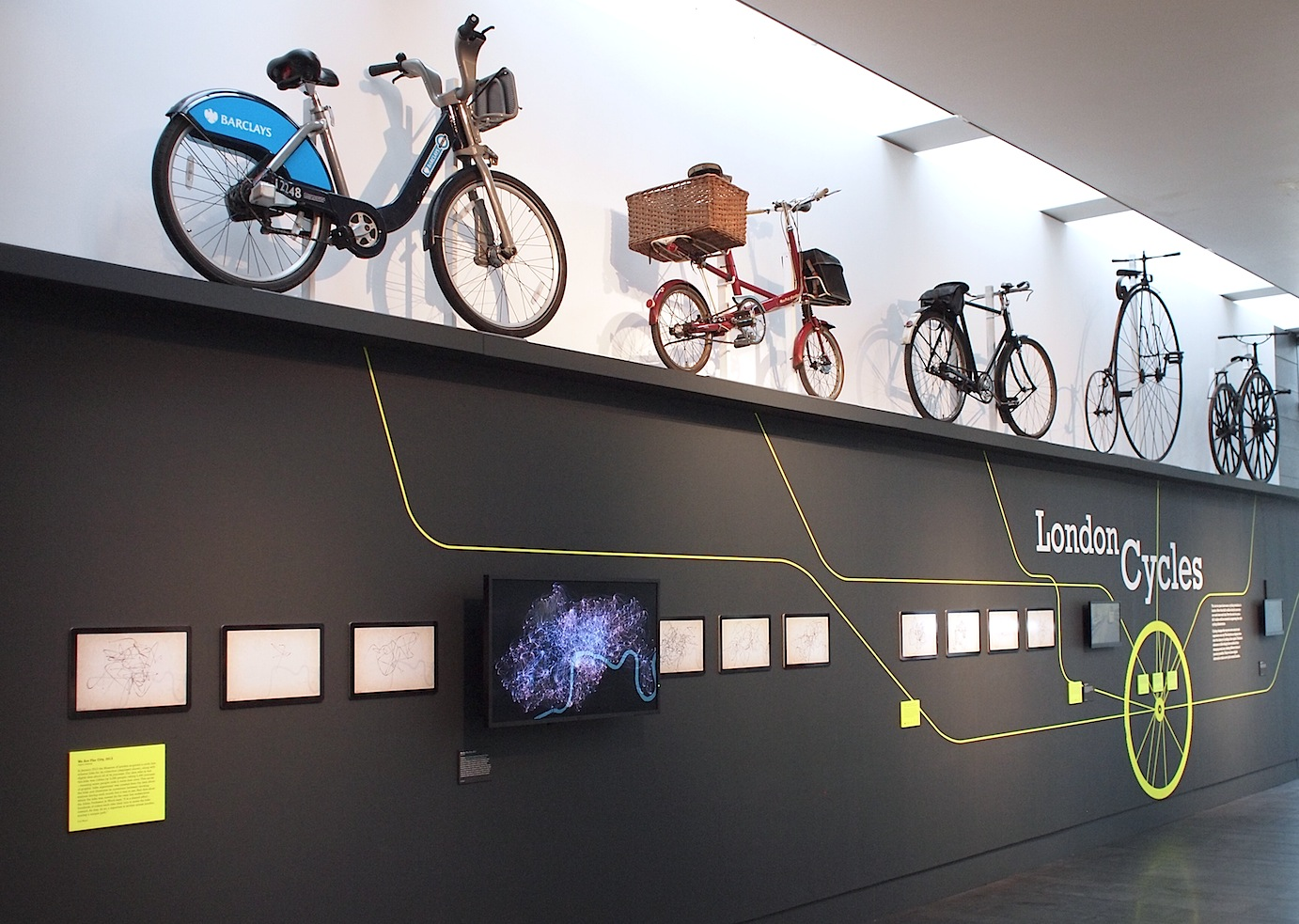Part of the  London Cycles  exhibition at the Museum of London