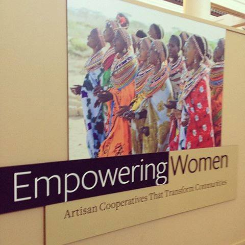 A photo from the Empowering Women: Artisan Cooperatives That Transform Communities exhibit at the San Diego Museum of Man.