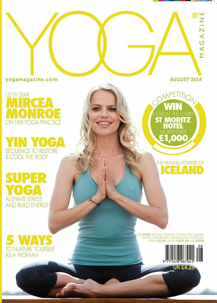 Yoga Magazine 's August issue.