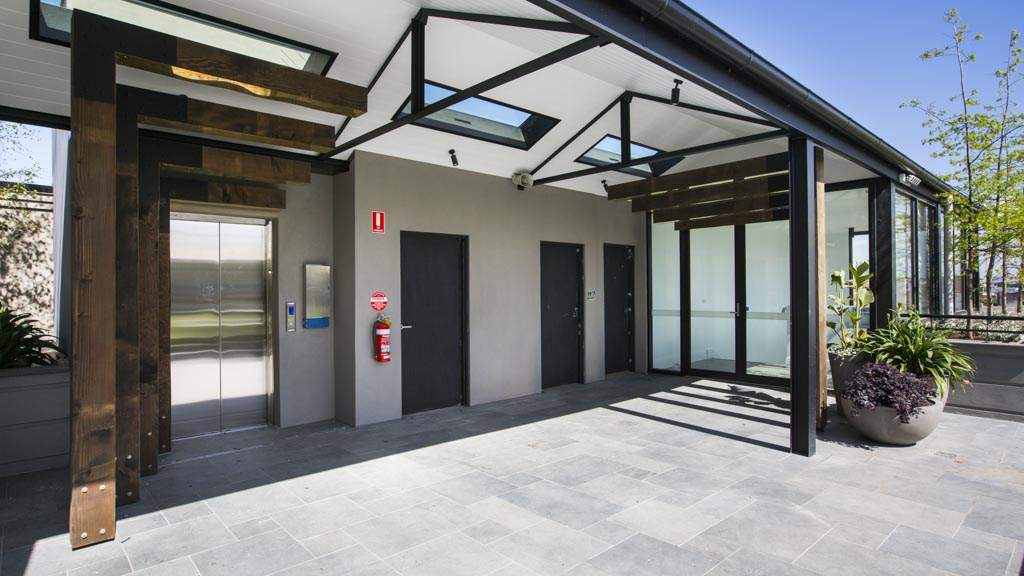 The Block - Sth Melbourne - Oregon Beams supplied by Simply Oregon