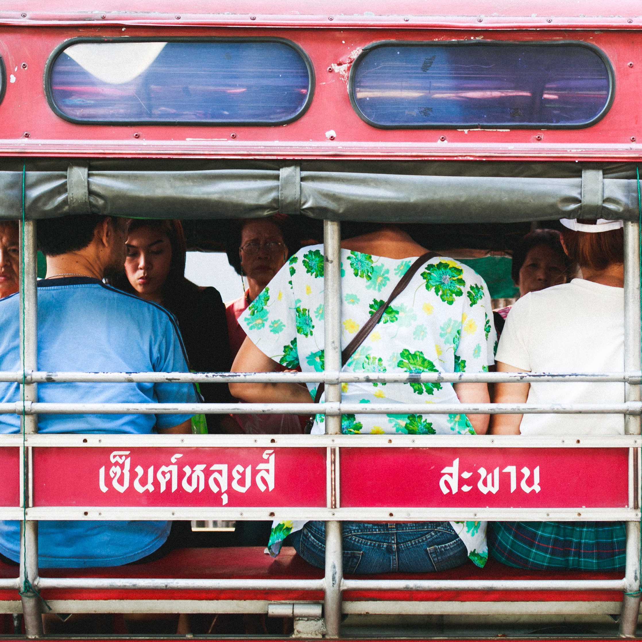Song taew, traditional Thai style mini bus